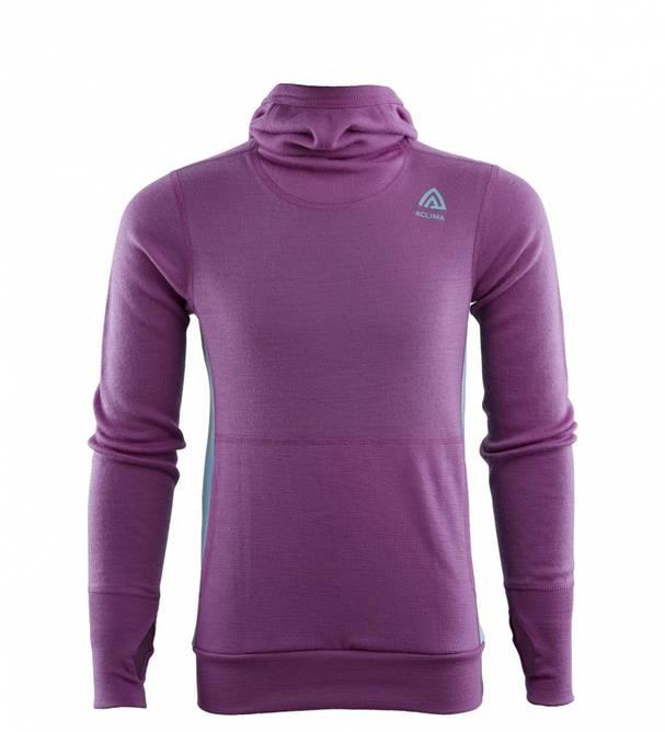 Bilde av Aclima WarmWool Hoodsweater Ch Sunset Purple/Reef
