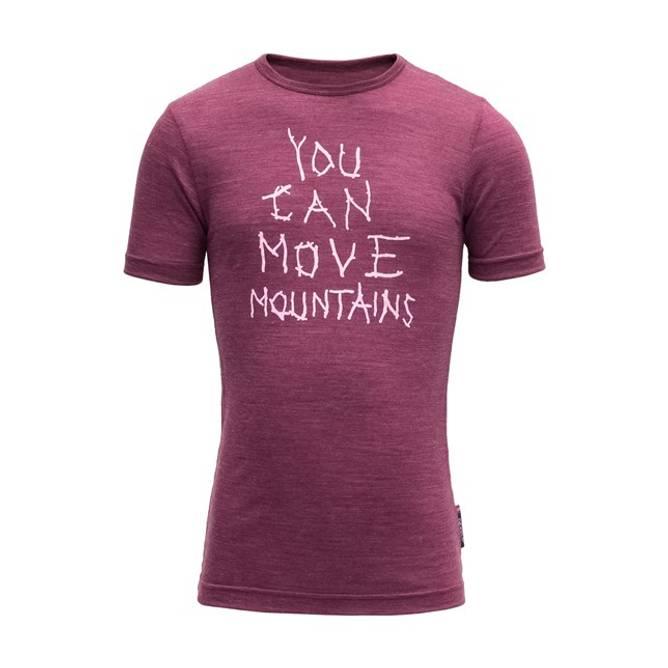 Bilde av Devold Moving Mountain Kid T-shirt Plum