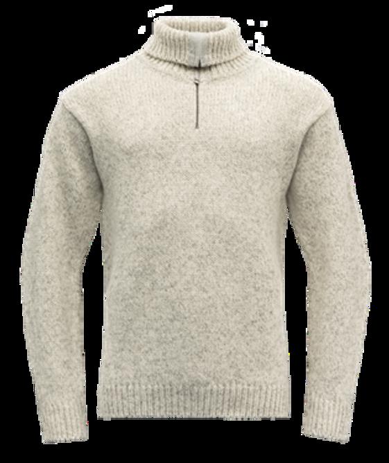 Bilde av Devold Nansen Sweater Zip Neck Grey Melange